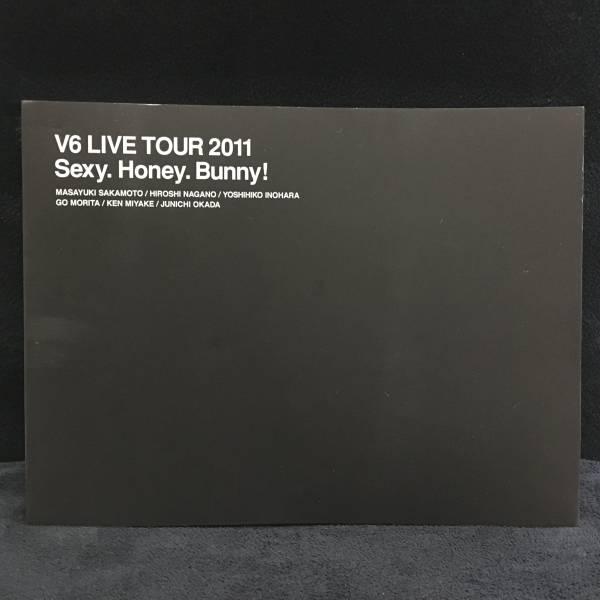 V6 パンフレット LIVE TOUR 2011 Sexy.Honey.Bunny! コンサートグッズの画像