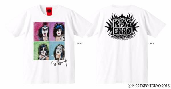 【KISS EXPO】ポール絵画Tシャツ Mサイズ YOSHIKI着用柄 ライブグッズの画像