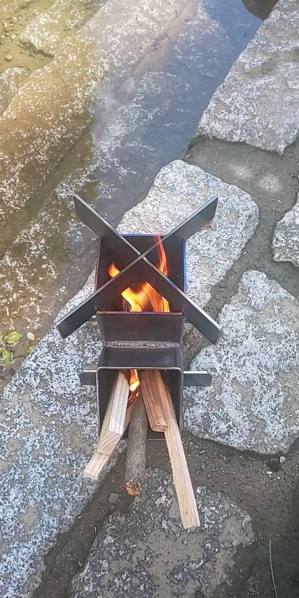 小さいロケットストーブ[12]焚き火台