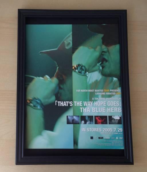 THA BLUE HERB 額装品 広告 ポスター CD DVD 2005 ライブ