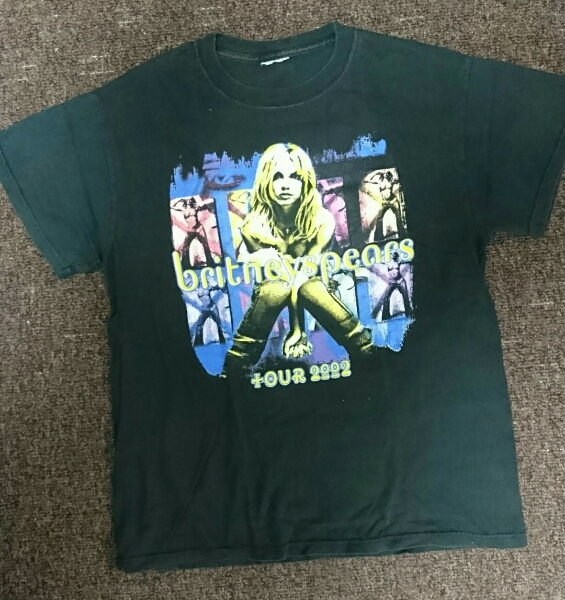 Britney Spears ブリトニー スピアーズ tour Tシャツ rap tee