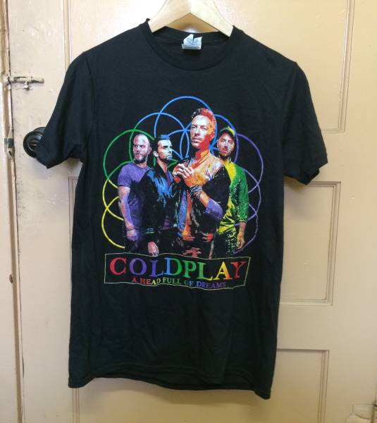 COLDPLAY Tシャツ 2PAC OASIS kanye カニエ nirvana rap tee S