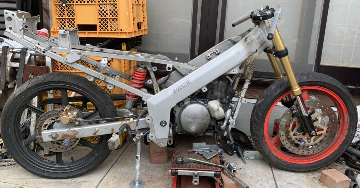 「ホンダ NSR150+CRM250Rエンジン 組立予告&宣伝出品」の画像1