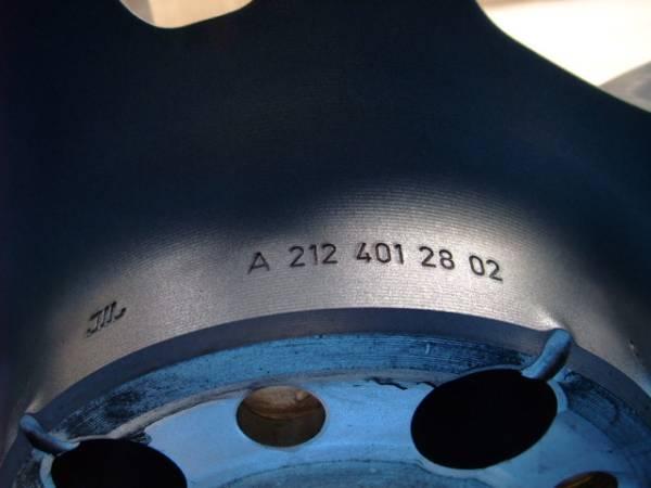 ベンツ W212 E63 AMG パフォーマンスパッケージ 純正 アルミ ホイール 4本 スタイリング4 フォージド 鍛造 W204 C63 AMG 中古品 4本_画像3