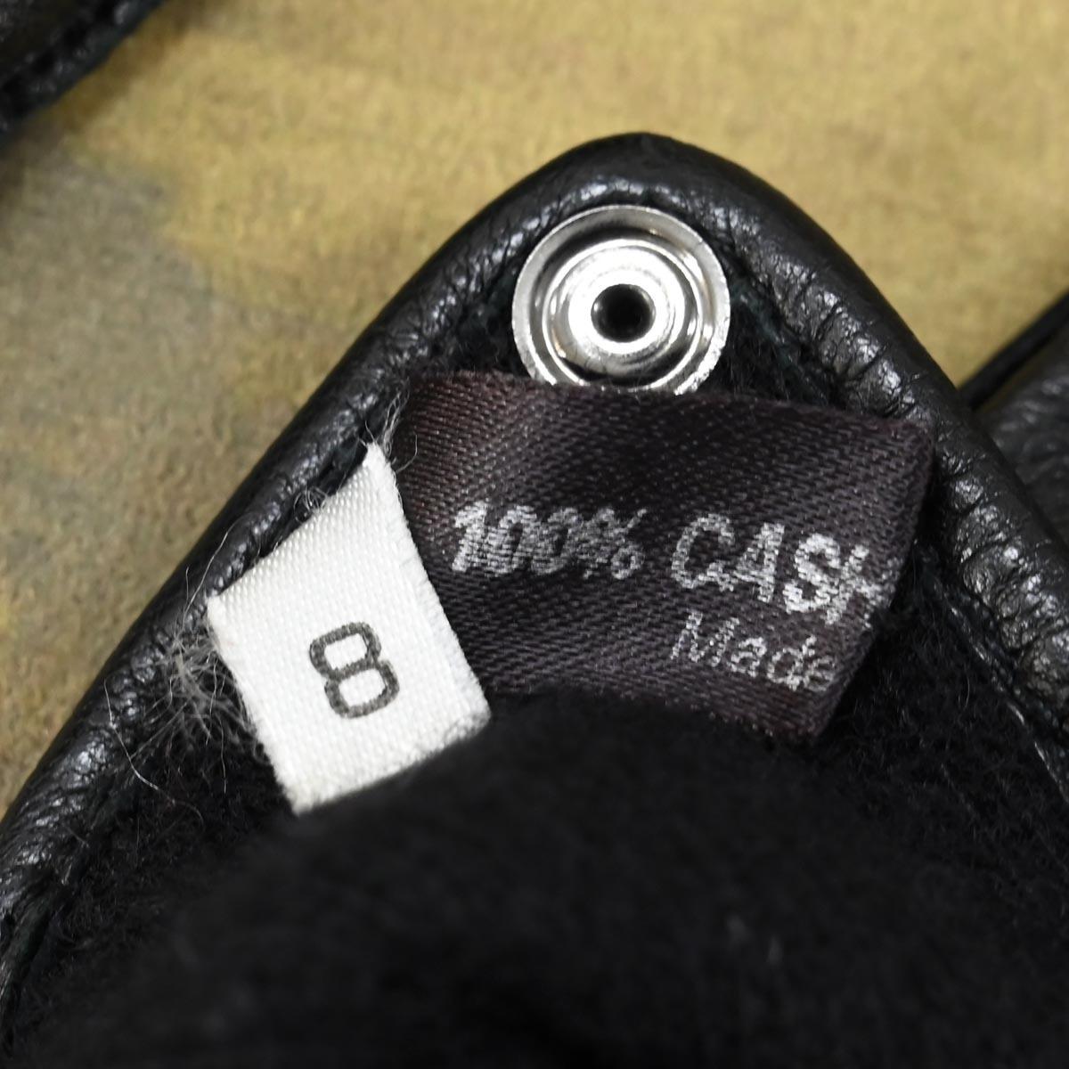 本物 超美品 グッチ 極希少 希少革 エキゾチックオーストレッグレザー グローブ メンズ8 ブラック 裏カシミヤ100% 紳士用 皮手袋 GUCCI_画像5