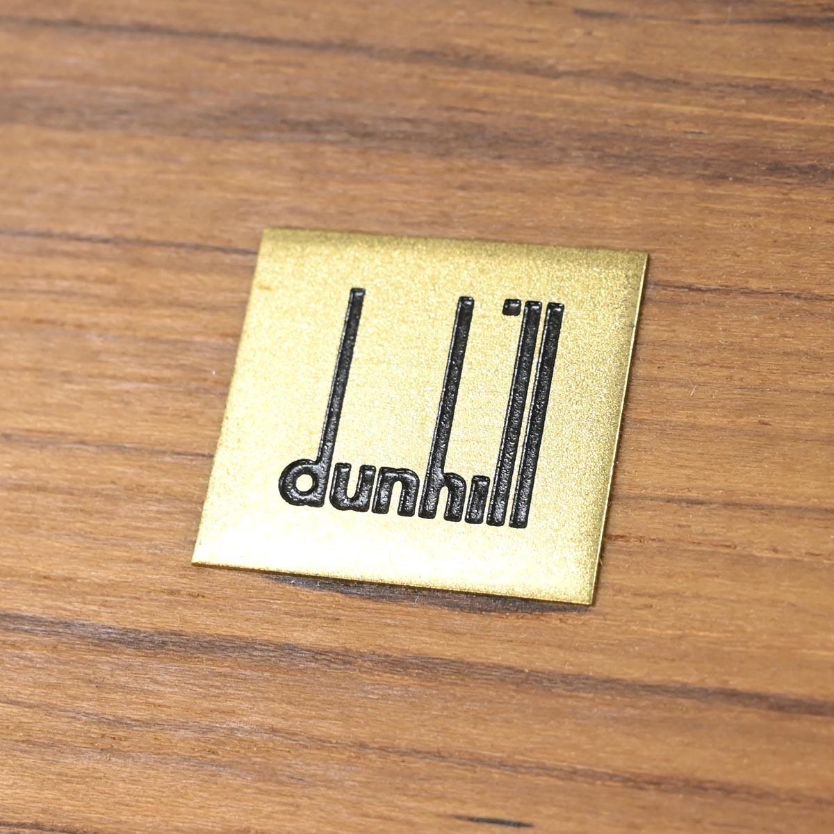 本物 新品 ダンヒル 極希少 木製 ナチュラルウッド ロゴプレート付き ヒュミドール シガレット シガーケース 喫煙具 DUNHILL_画像3