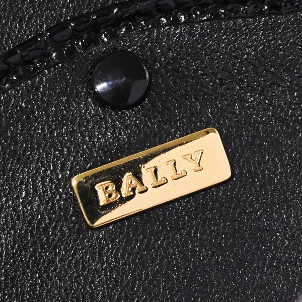 本物 極上品 バリー 最高級リアルクロコダイルレザー鍵付きスクエアバニティバッグ ブラック 2WAYクロコショルダーバッグ 保存袋付 BALLY_画像9