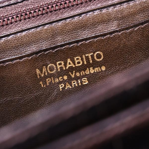 本物 超美品 モラビト 極希少 コンスタンス型 シグネチャー クロコダイル ショルダーバッグ Mロック金具クロコバッグ 保存箱付 MORABITO_画像10