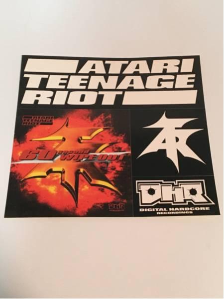 未使用 ステッカー ATARI TEENAGE RIOT アタリティーンエージ