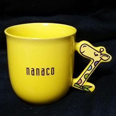 ナナコ nanaco マグ カップ キリン 黄色 食器 陶器製 レア 即決