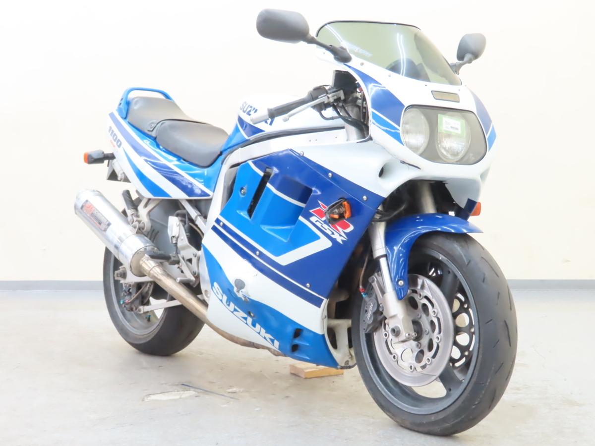 「特別出品!! スズキ GSX-R1100 【動画有】ローン可 旧車 GV73A 油冷エンジン ヨシムラマフラー 倒立フォーク SUZUKI 売り切り」の画像1