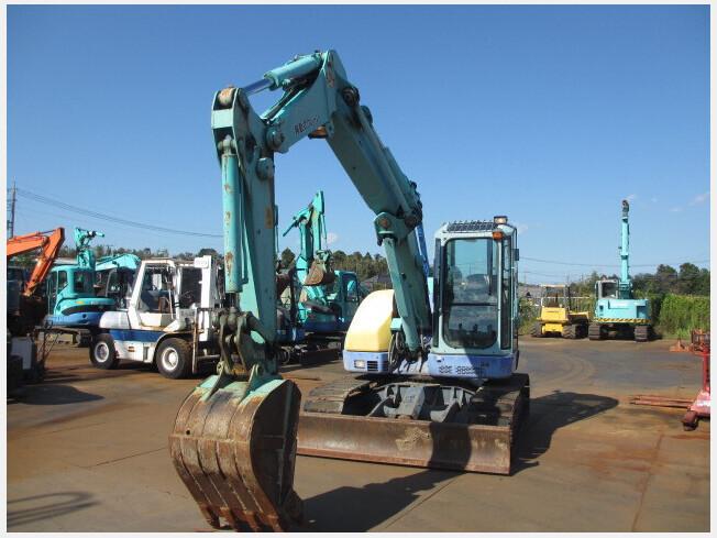 「油圧ショベル(ユンボ) ヤンマー B7-5B 2010年製 3397h クレーン仕様 マルチレバー ブレード付 排土板、クレーン」の画像2