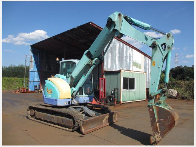 「油圧ショベル(ユンボ) ヤンマー B7-5B 2010年製 3397h クレーン仕様 マルチレバー ブレード付 排土板、クレーン」の画像1