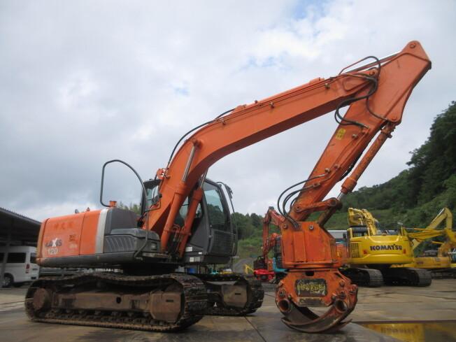 「油圧ショベル(ユンボ) 日立建機 ZX120-3 2010年製 9158h 配管付 木材グラップル付」の画像3