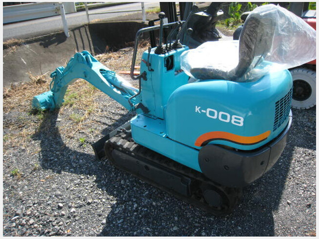 「ミニ油圧ショベル(ミニユンボ) クボタ K-008 1993年製 3170h」の画像2