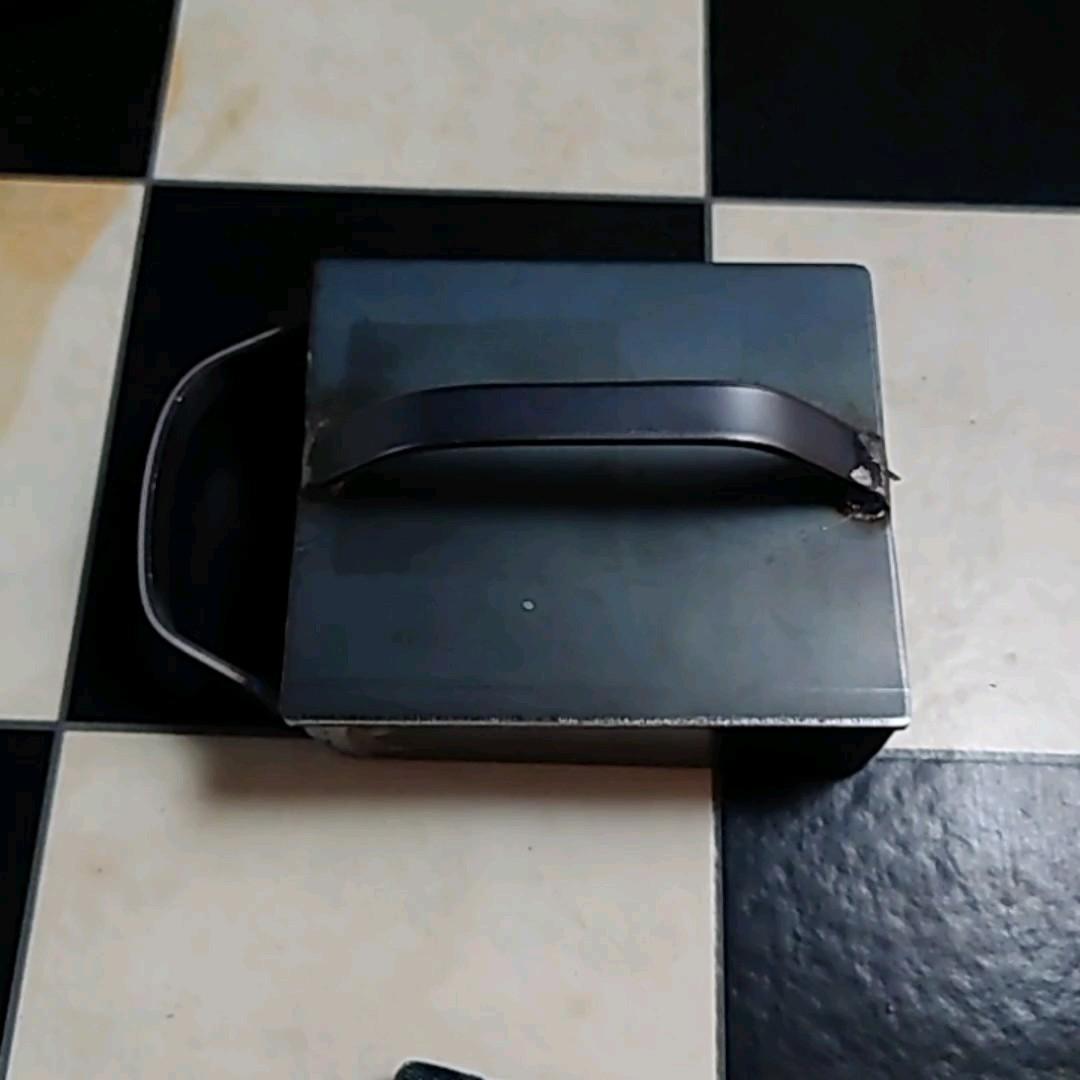 バーベキュー枠付き鉄板3.2ミリ125×105×40