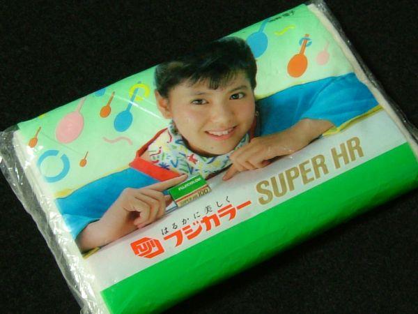 南野陽子 フジカラーSUPER HR 1986年 広告ポケットティッシュ