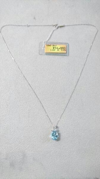 ◆新品 K18WG ブルートパーズ&ダイヤ ネックレス 2.52ct&0.01ct_画像3