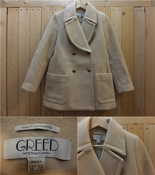 お洒落♪グリード【GREED International】ウールコートS☆1059
