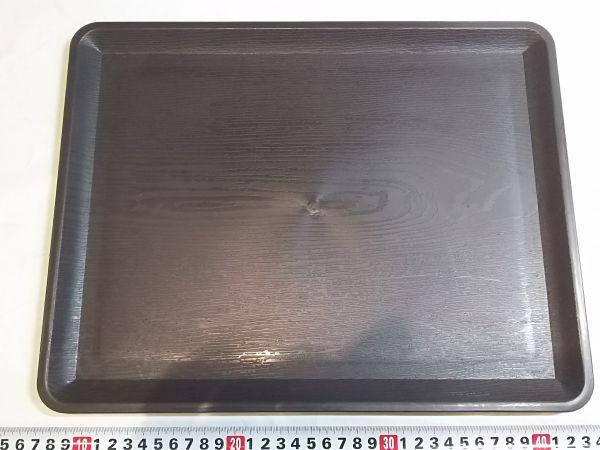 木目調プラスチックトレー 37×28.5cm ☆伝振動板★鄭11_画像1