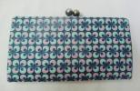 ■美品■gredecana・グリデカナ■本革がま口長財布(丸ブルー系