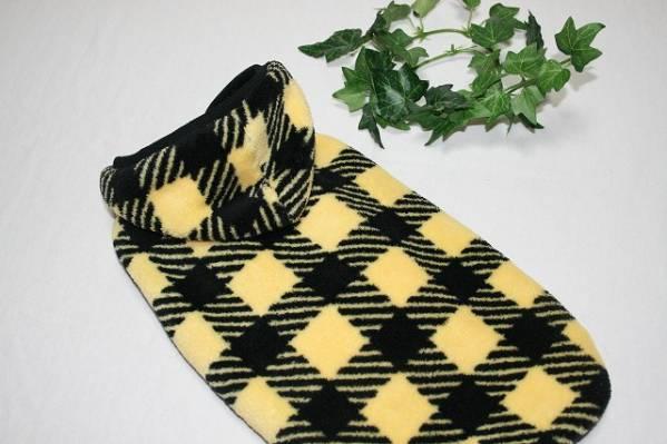 ♪送料無料♪黒×黄色モコモコタンク 胴46丈35♪_画像1