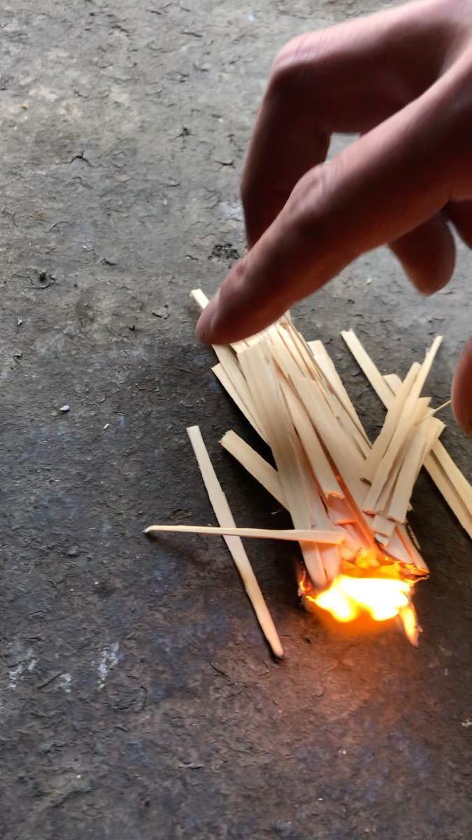 めっちゃ燃える薄い木 着火の友 100枚
