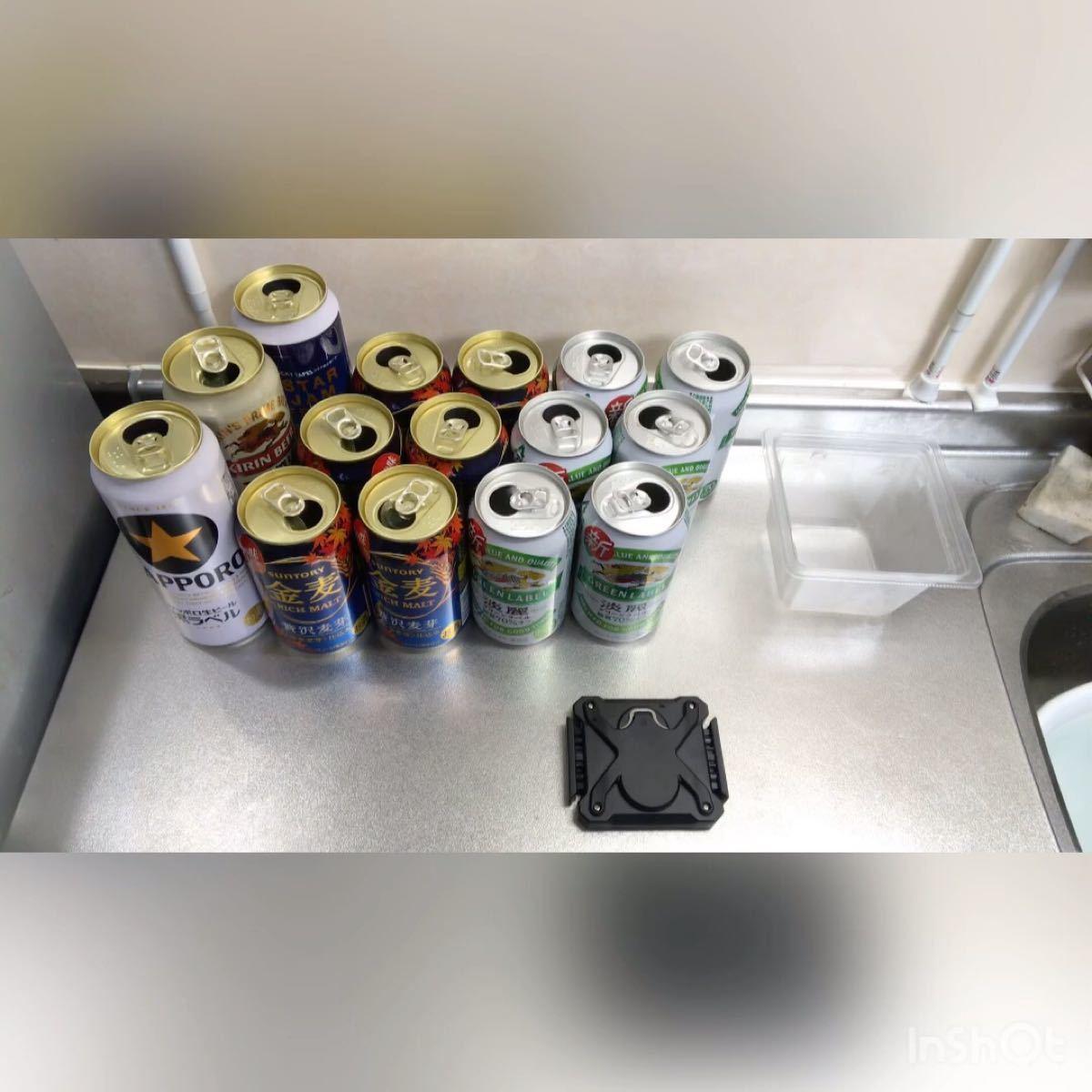 新品未使用 オープナー 2in1 手動 缶切り 蓋開け 缶詰め開け 栓抜き 日本の缶専用 キャンプ大活躍 大人気商品