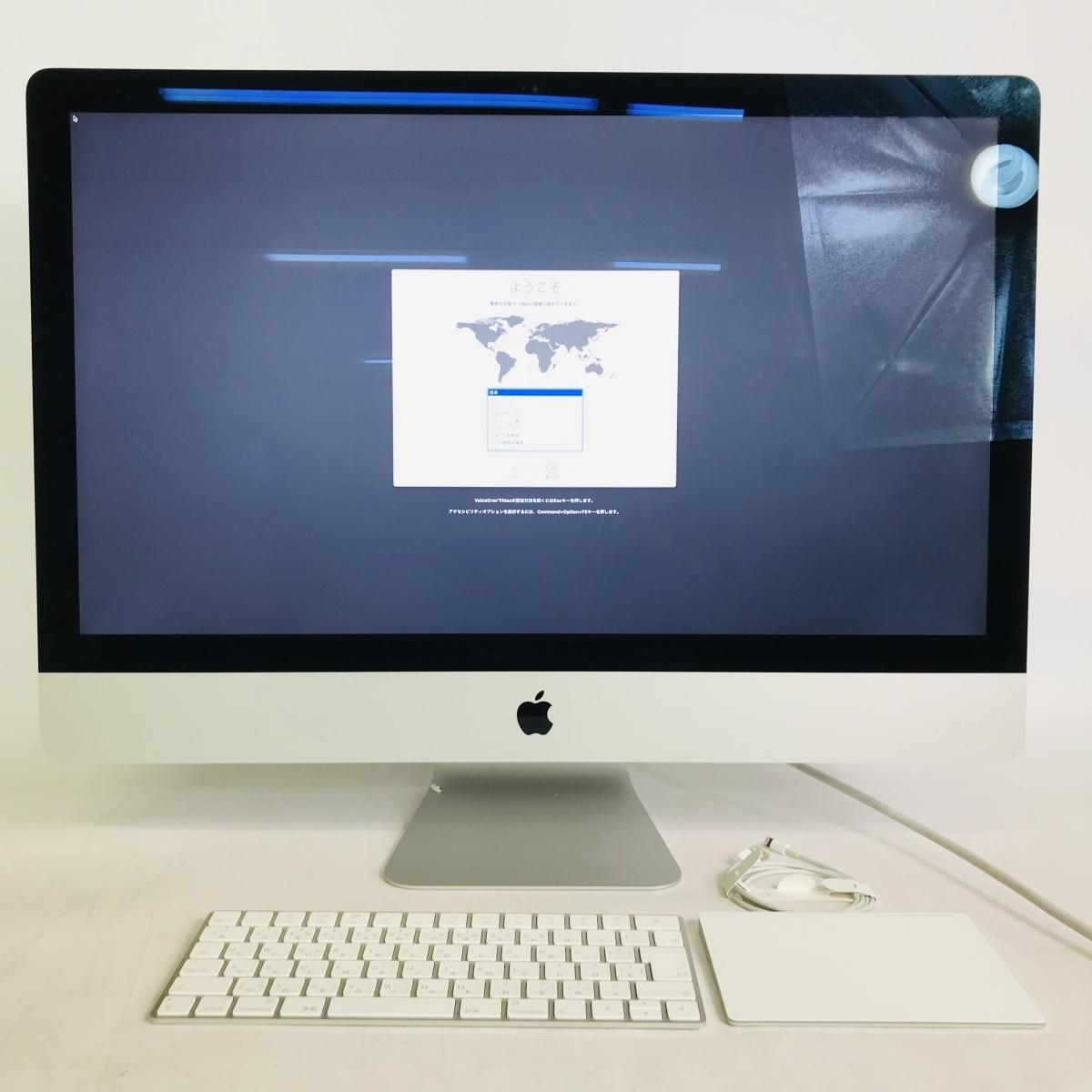 ジャンク iMac Retina 5Kディスプレイモデル 27インチ(Early2019) Core i9 3.6GHz/32GB/FD 2TB MRR12J/A_画像1