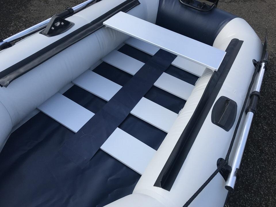「二人用ゴムボート スラットフロア ロッドホルダー モーターマウント付最大3馬力 2馬力対応免許不要サイズミニボート」の画像2