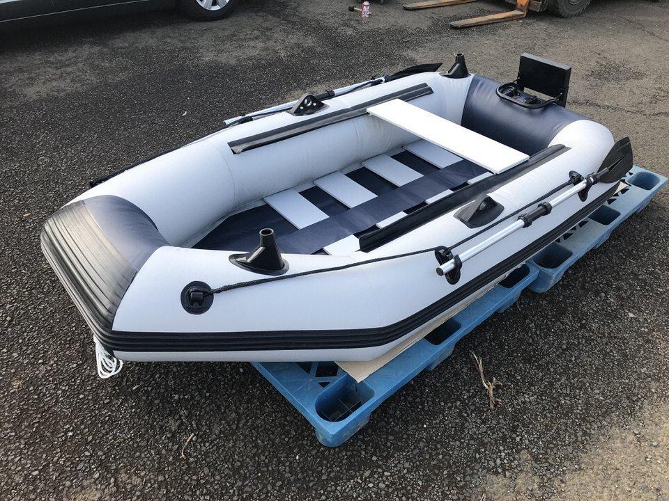 「二人用ゴムボート スラットフロア ロッドホルダー モーターマウント付最大3馬力 2馬力対応免許不要サイズミニボート」の画像1