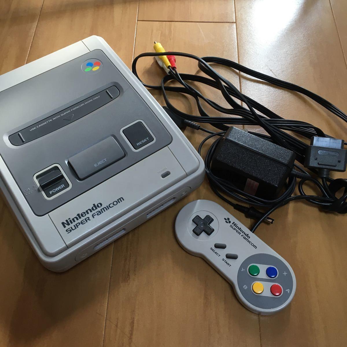 スーパーファミコン 本体 コントローラー 動作確認済み 任天堂 スーファミ レトロ ゲーム すぐに遊べる! すべて純正品