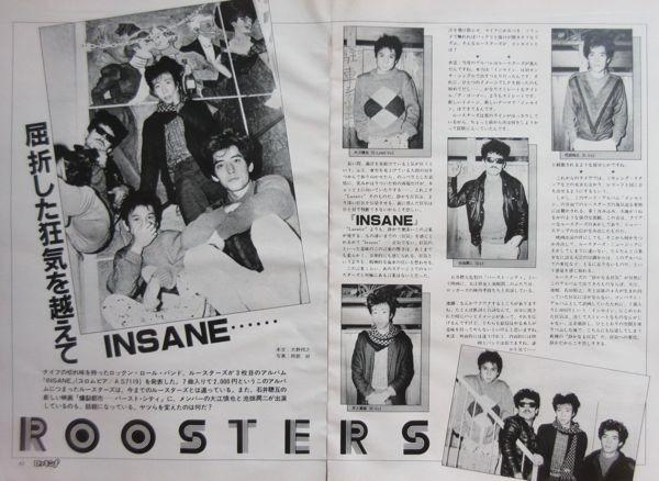 ルースターズ 大江慎也 花田裕之 インセイン 広告 1982 切抜 4P