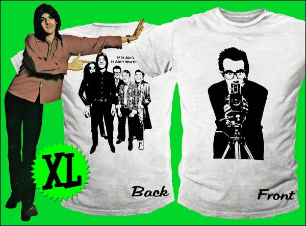 Elvis Costello コステロ Nick Lowe ニック・ロウ Stiff W-XL