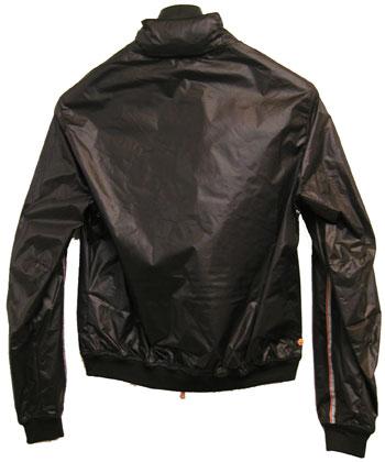 CBY CRUST (チバイ)by Cinellistudio S.R.L Italy ウインドブレーカーBLACK M_袖と裾はニットのフライスです。