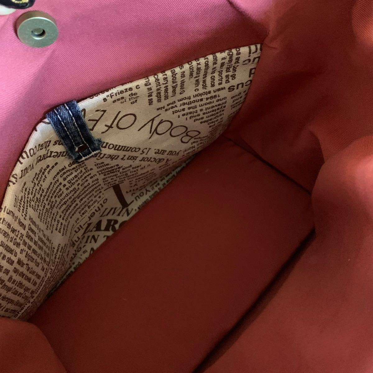 ハンドメイド トートバッグ ミニトートバッグ ランチバック 手作り カバン リメイク デニム ジーンズ リーバイス