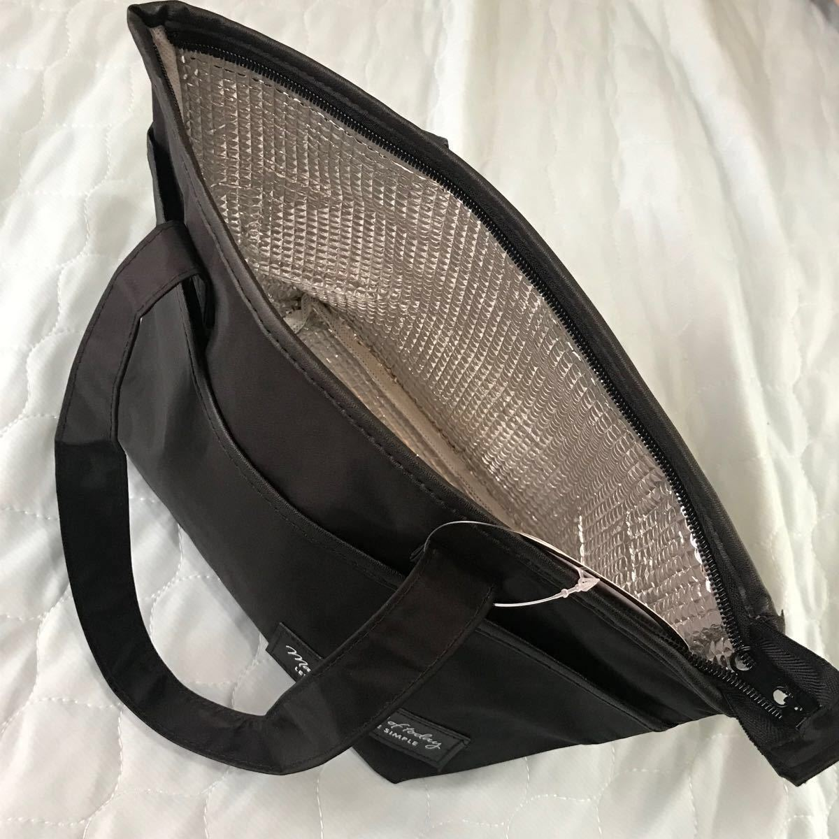 トートバッグ ランチバッグ保冷保温 レディースバッグ 黒 サブバッグ ミニバッグ コンパクトバッグ 弁当用品 キッチン用品