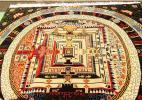 【特注品】チベット曼荼羅絨毯 4畳半 カーラチャクラ仏教仏像 寺院 ダライラマ マンダラ 仏教美術 ネパール