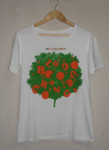 ミスターチルドレン MR.CHILDREN blood orange 半袖Tシャツ 白