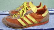 即決送料無料 90s 94s スロベニア製 アディダス スニーカー 靴 オレンジ×黄色 26,5cm / ビンテージ