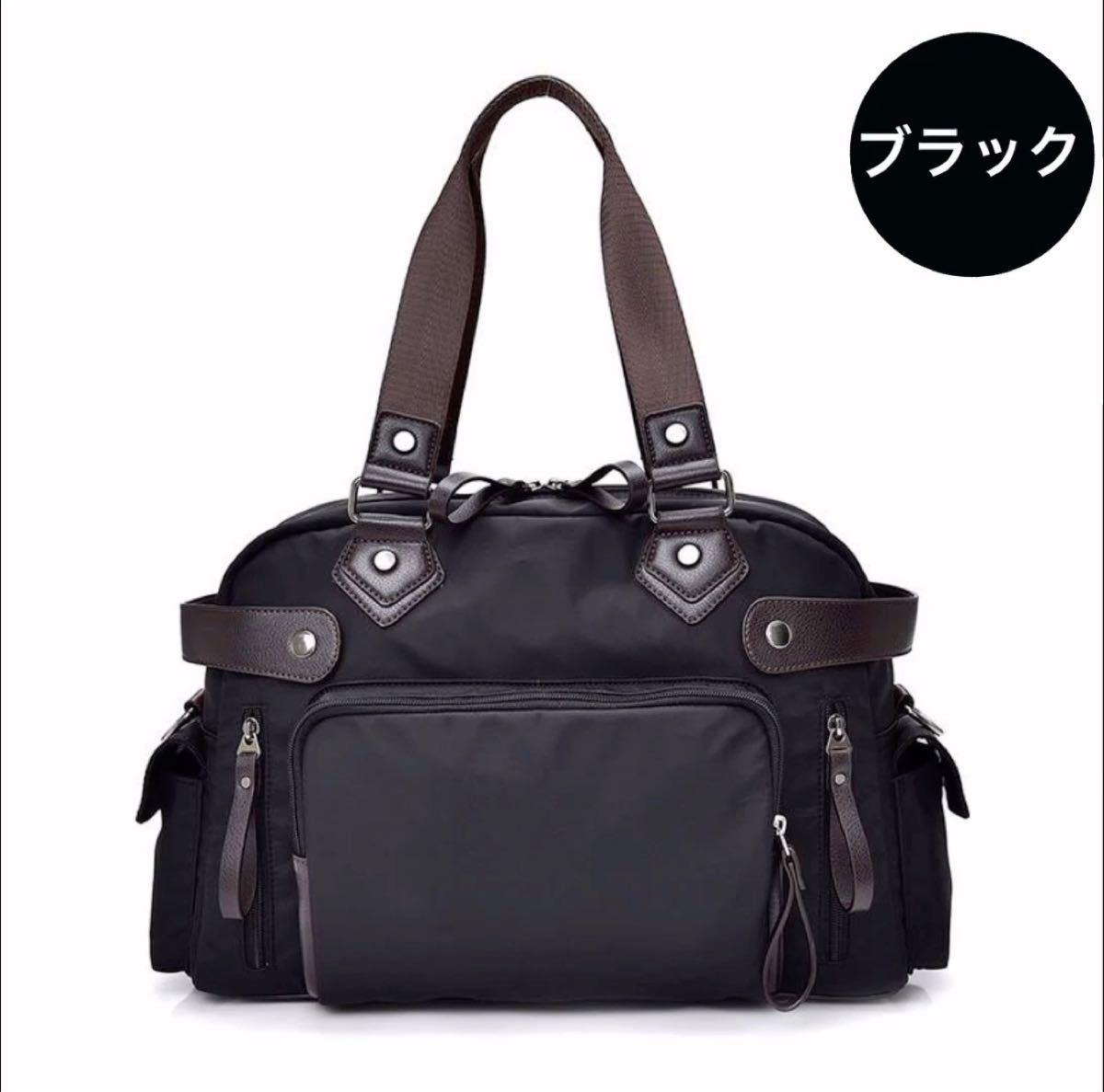 トートバッグ ショルダーバッグ 男女兼用 大容量 高品質 ブラック 斜め掛けバッグ
