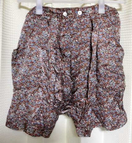 zucca Zucca satin floral print short pantsL