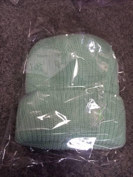でんぱ組.inc 夢眠ねむ ニットキャップ 緑 スピンズ 帽子