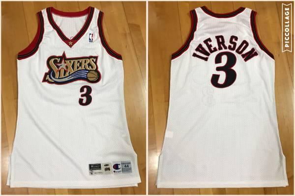 1998-99アレンアイバーソンIVERSON試合着用NBAインジャージ グッズの画像