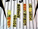 阪神タイガース★桧山応援歌HM黒黄刺繍ワッペンユニフォームに