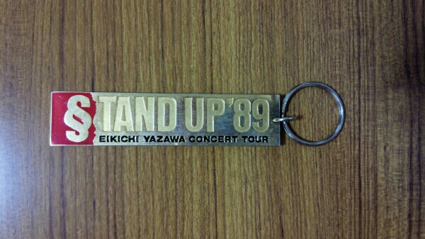 矢沢永吉☆中古美品☆STAND UP'89キーホルダー&ビデオARENA/DOME