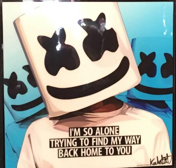 タイ発!!ArtPop ポスターフレーム『DJ Marshmello』日本未入荷