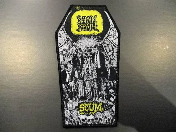 NAPALM DEATH 刺繍パッチ ワッペン coffin shape / carcass