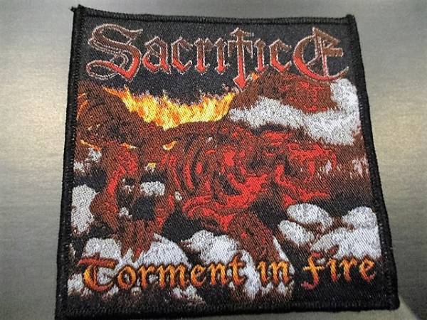 SACRIFICE 刺繍パッチ ワッペン torment in fire / slayer