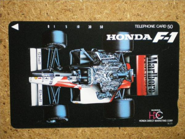 F1/AS8・ホンダ マルボロ 9E05 テレカ_画像1